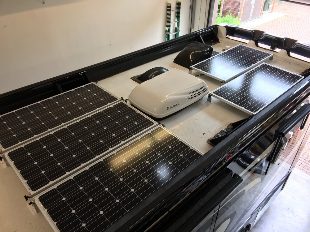 Equipment added:   6x SF160 Solar Panel Kits 1x Roof C-Box 1x SunRunner Victron MPPT 85A System Core 1x BMV-702 Shunt Controlled Battery Monitor