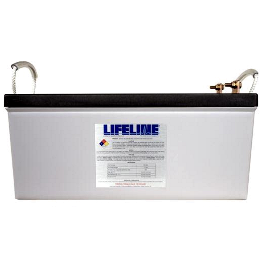 """Lifeline GPL-8DL $714.95 AGM battery 12 Volt nominal 255Ah capacity @ 20hr Length = 20.76"""" Width = 10.89"""" Height = 9.76"""" Weight = 162lbs Please call to get a shipping quote and place an order 541.726.1091"""