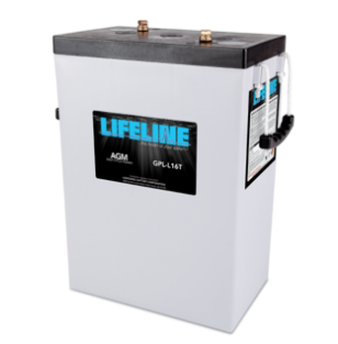 """Lifeline GPL-16T $579.95 AGM battery 6 Volt nominal 400Ah capacity @ 20hr Length = 11.64"""" Width = 6.95"""" Height = 15.73"""" Weight = 119lbs Please call to get a shipping quote and place an order 541.726.1091"""