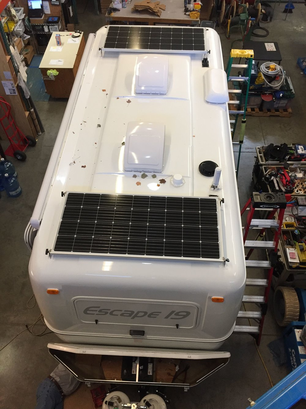 Solar Panel Installation For Rvs Trailers Am California Trailer Wiring Diagram Equipment Added 2x Sf180w Kits 1x Sunrunner Victron Mppt 30a Charge Controller Core