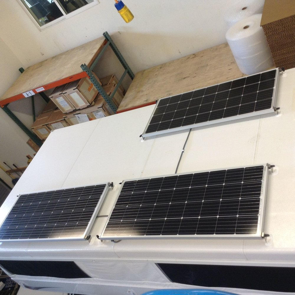 Solar Panel Installation For Rvs Trailers Am Trailer Electrics Wiring Diagram Uk 540w Of Panels