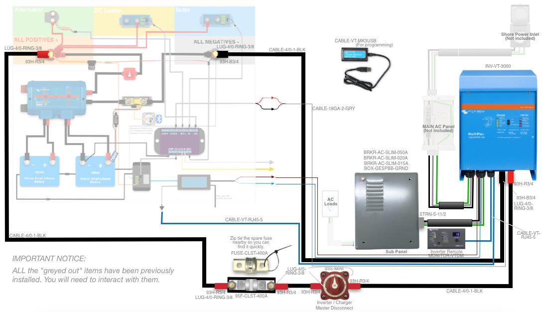 victron multiplus 12 3000 inverter kit  50 rv wiring diagram split phase inverter #4