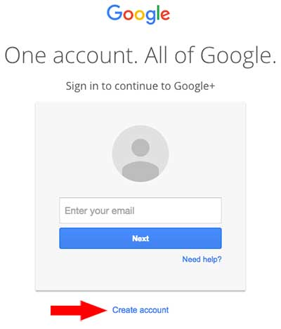 Google login box