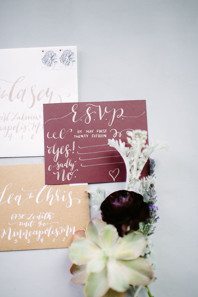 Warehouse Wedding | Hooked Calligraphy