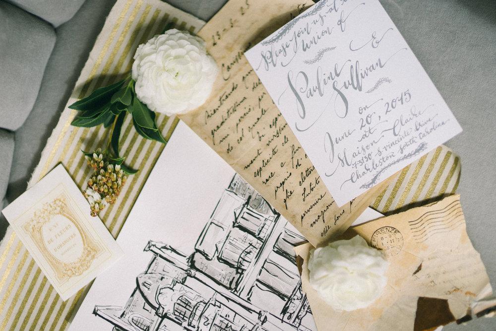 Parisian Wedding Inspiration | Hooked Calligraphy