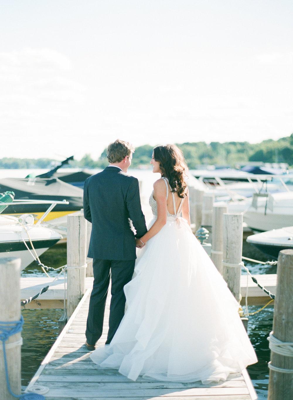 Lakeside Wedding Calligraphy | Hooked Calligraphy