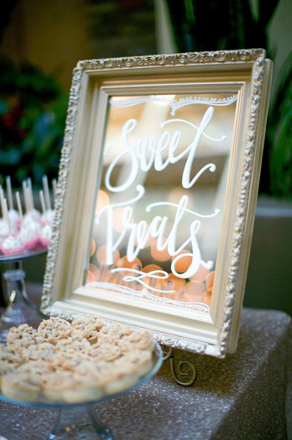 Lakeside Wedding Calligraphy | by Hooked Calligraphy