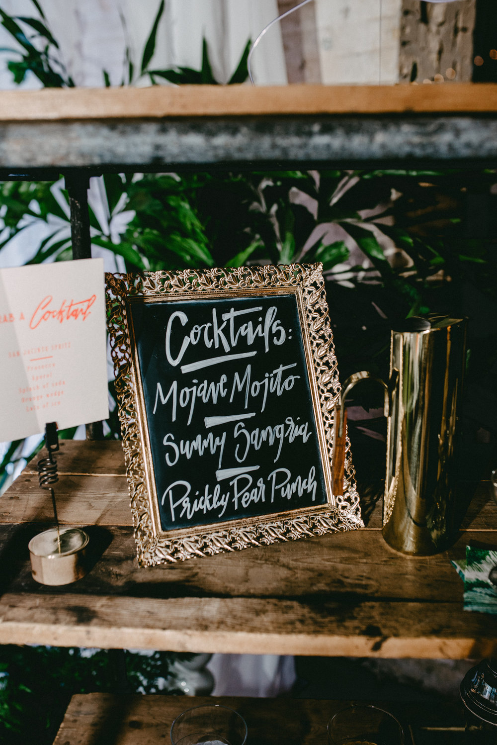 Styled For Good 2016 - Custom Bar Chalkboard by Hooked Calligraphy