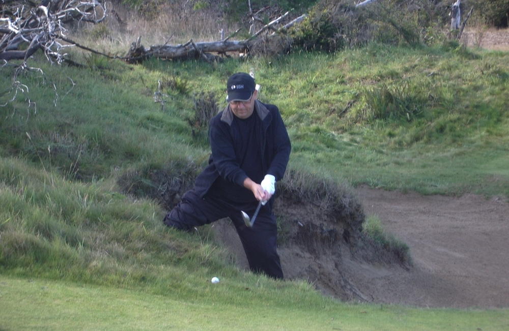 Tough spot at Bandon Dunes with my buddies, September 2009