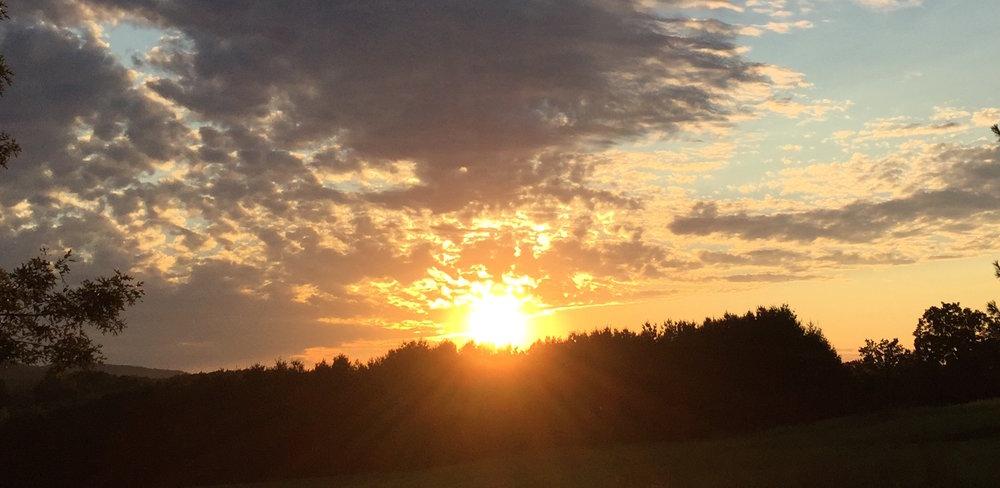 A beautiful sunrise wakes up Wyomissing Park September 2016