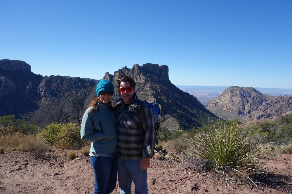 first peak of the trip. Lost Mine Peak, Big Bend NP.