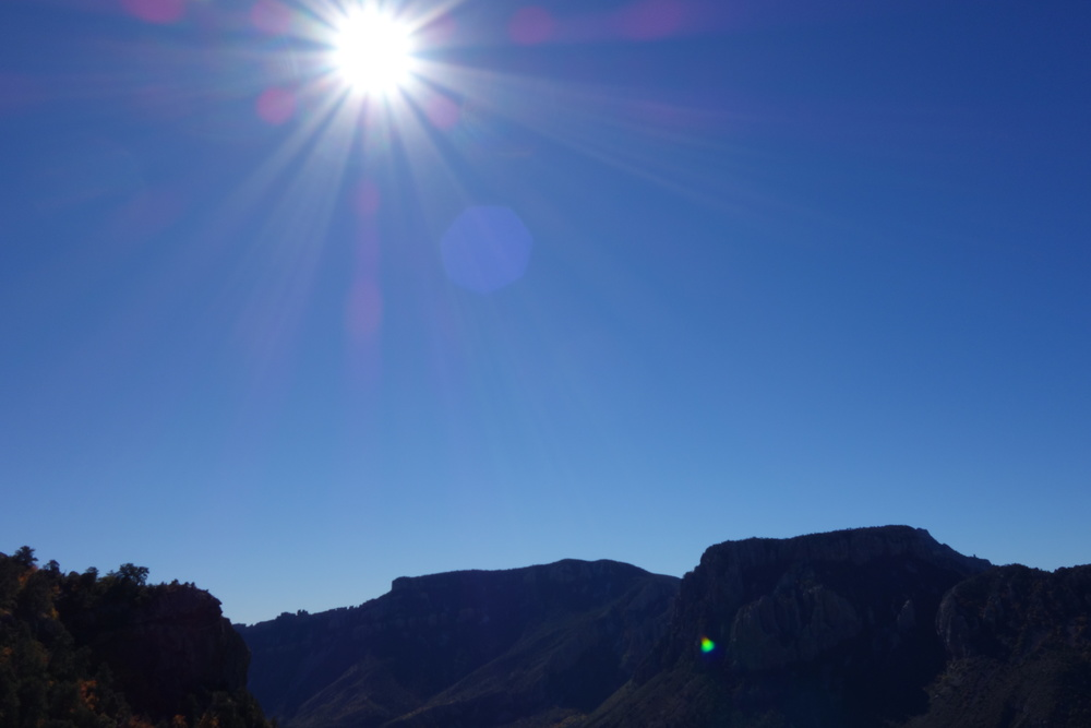 Chisos mountains in the chiuahuan desert. Big Bend NP. December 12th