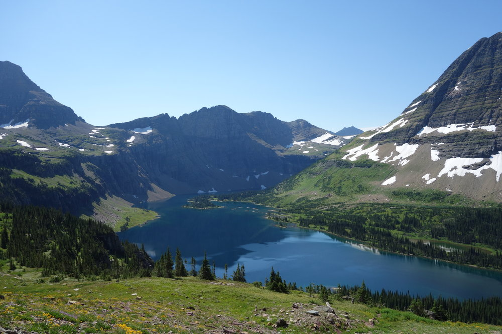 The hike down to hidden lake, where lude acts of underwear swimming would haunt fellow hikers for years.