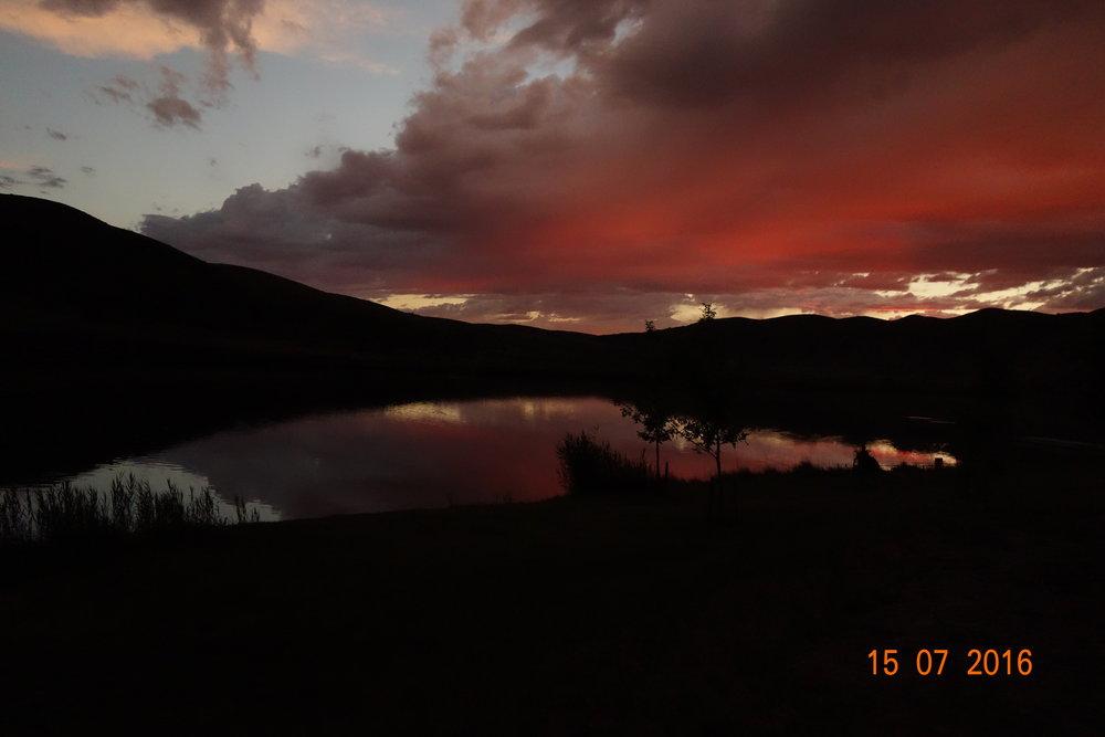 Totson Dam, Missouri River, Montana. Free camping.
