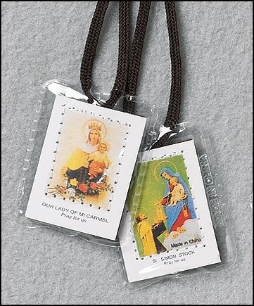 Laminated Brown Scapular $1.50