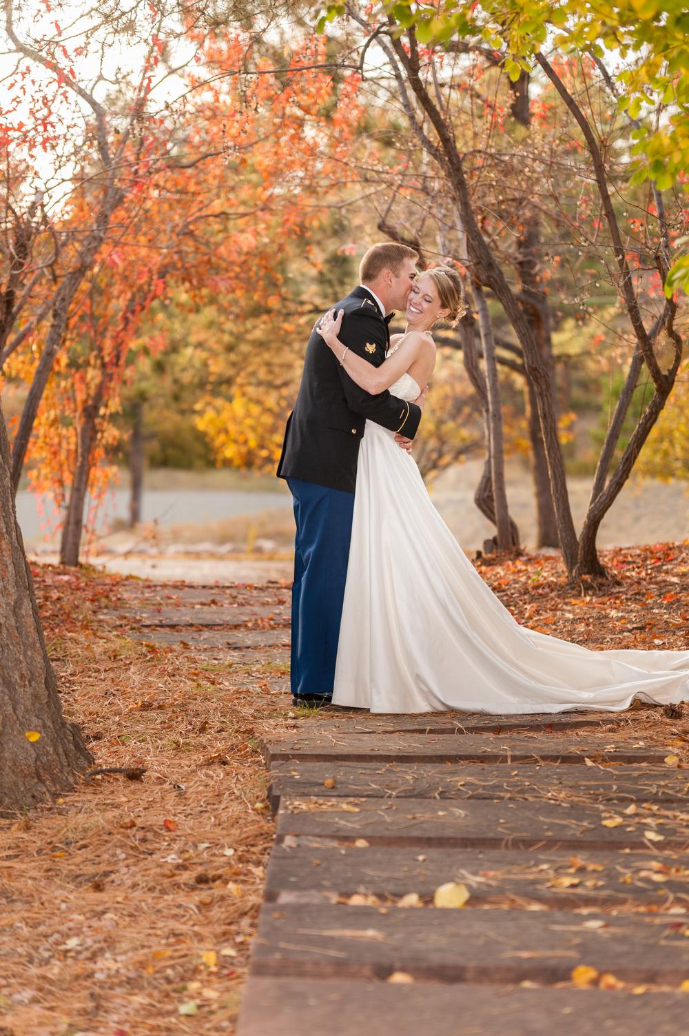 wedding_day_couple_portraits_walkway_fall_smile
