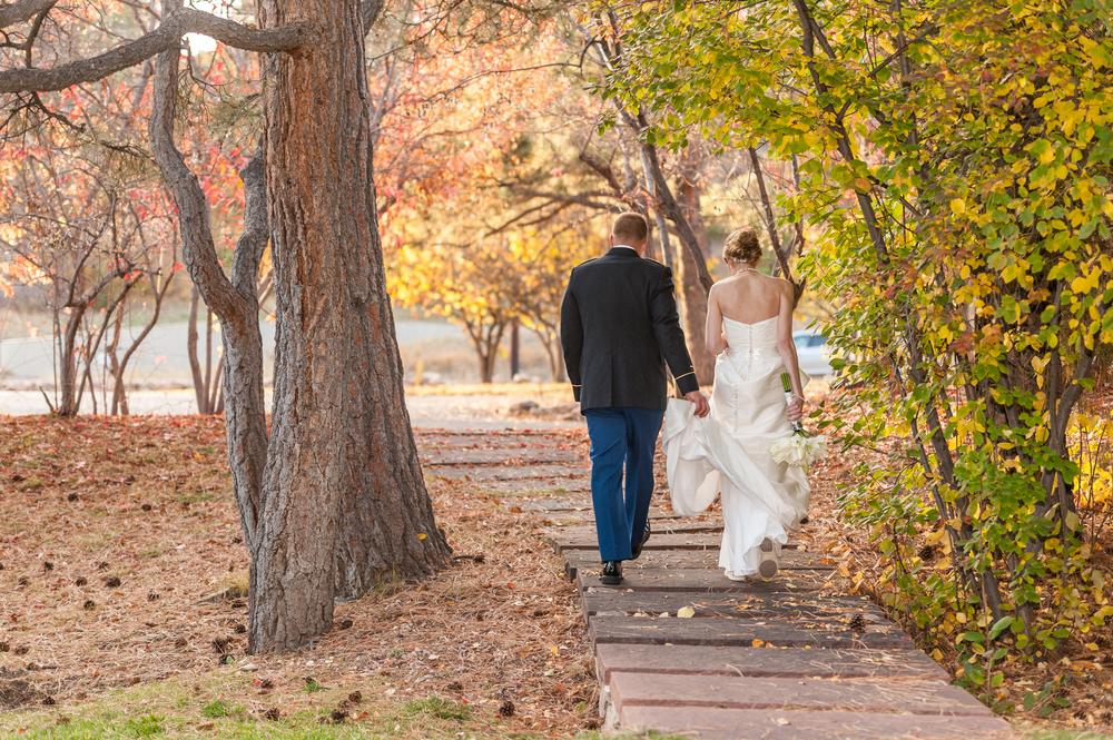 walk_bride_groom_fall_colorado