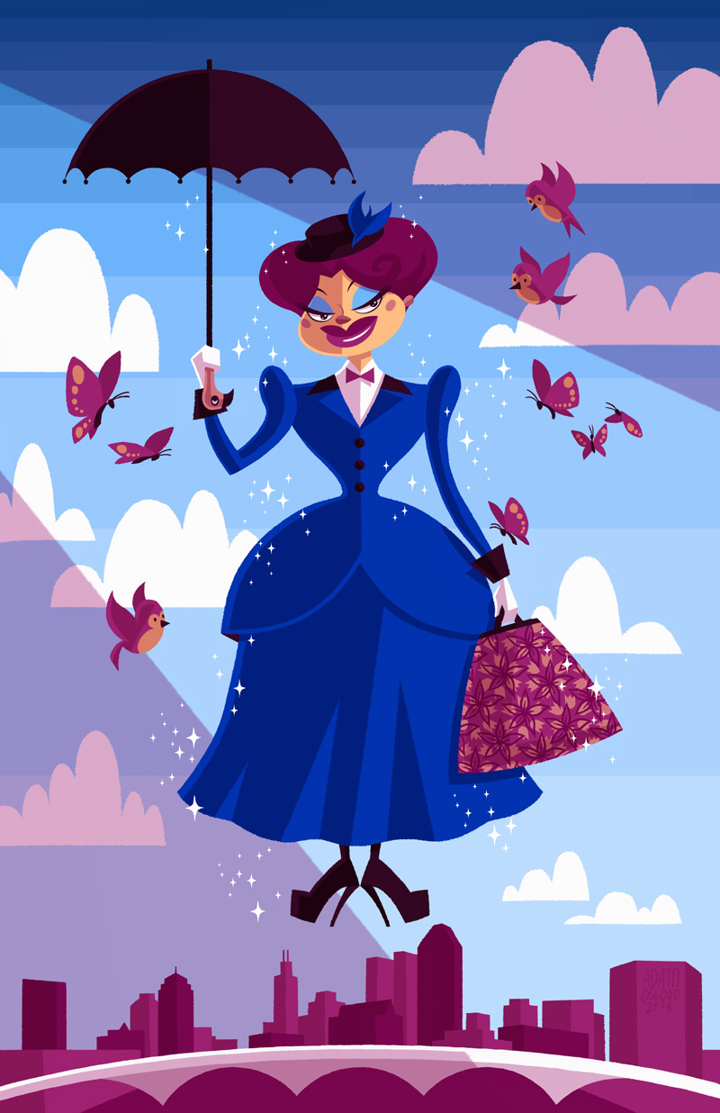 "Show Poster for Nina West as Mary Poppins for ""SupercaliDRAGulicious"""