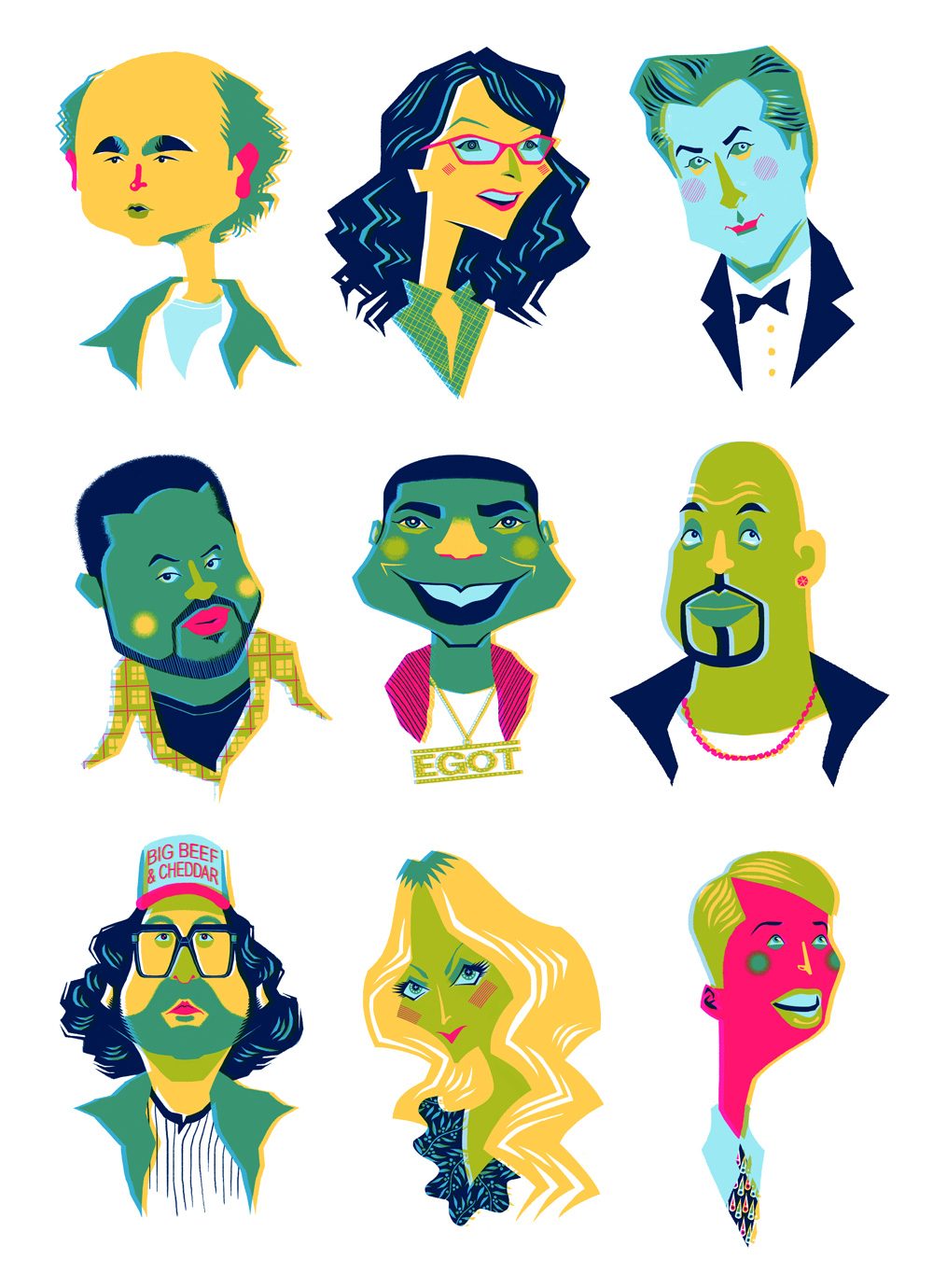 30 Rock Portraits