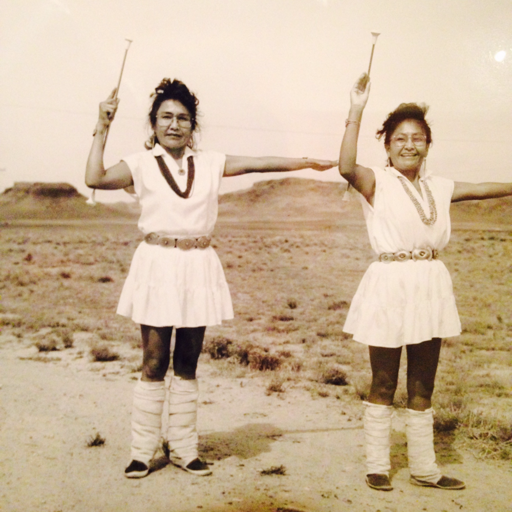 Diné women, a photo of a photo from the Navajo Nation museum