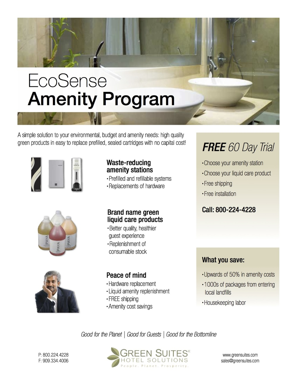 AFTER: EcoSense flyer  Clarified program details, applied new design standards, added focus