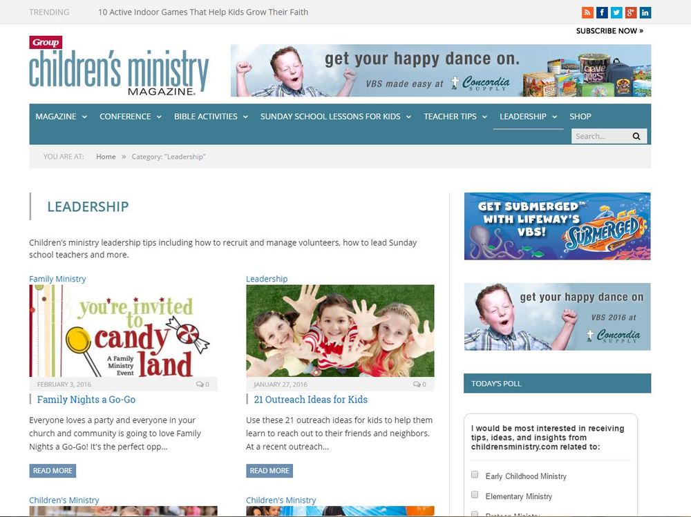 Support graphics on childrensministry.com