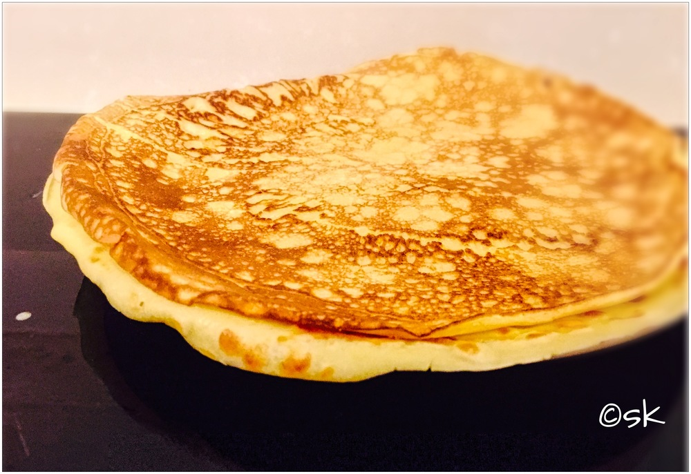 German   Pfannkuchen  . They are similar to pancakes yet larger and thinner. You can enjoy them for breakfast, lunch or dinner with savoury or sweet fillings. Recipe to follow soon. Stay tuned.