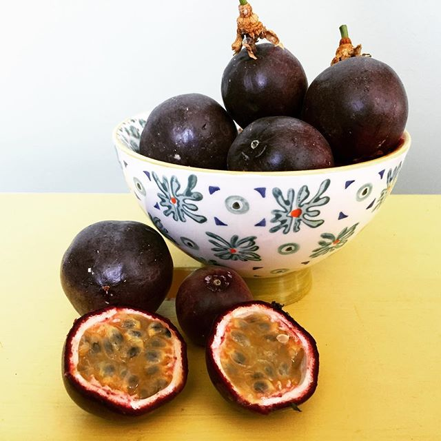 #lilikoi from our garden. Most beautiful vine and magical fruit. #passionfruit #homegrown #naturessweettreat