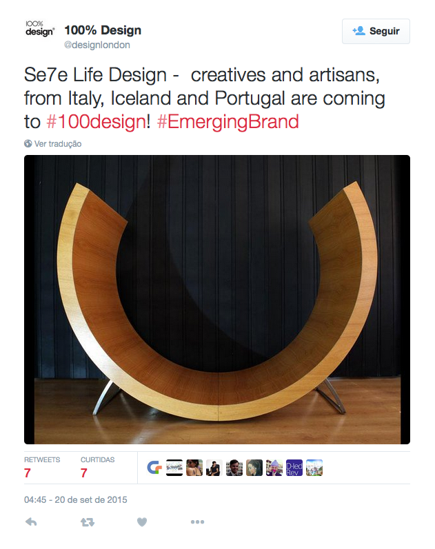 From UK with love at 100% Design London  link