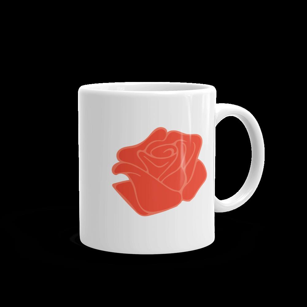 Commencé Par Une Rose Mug