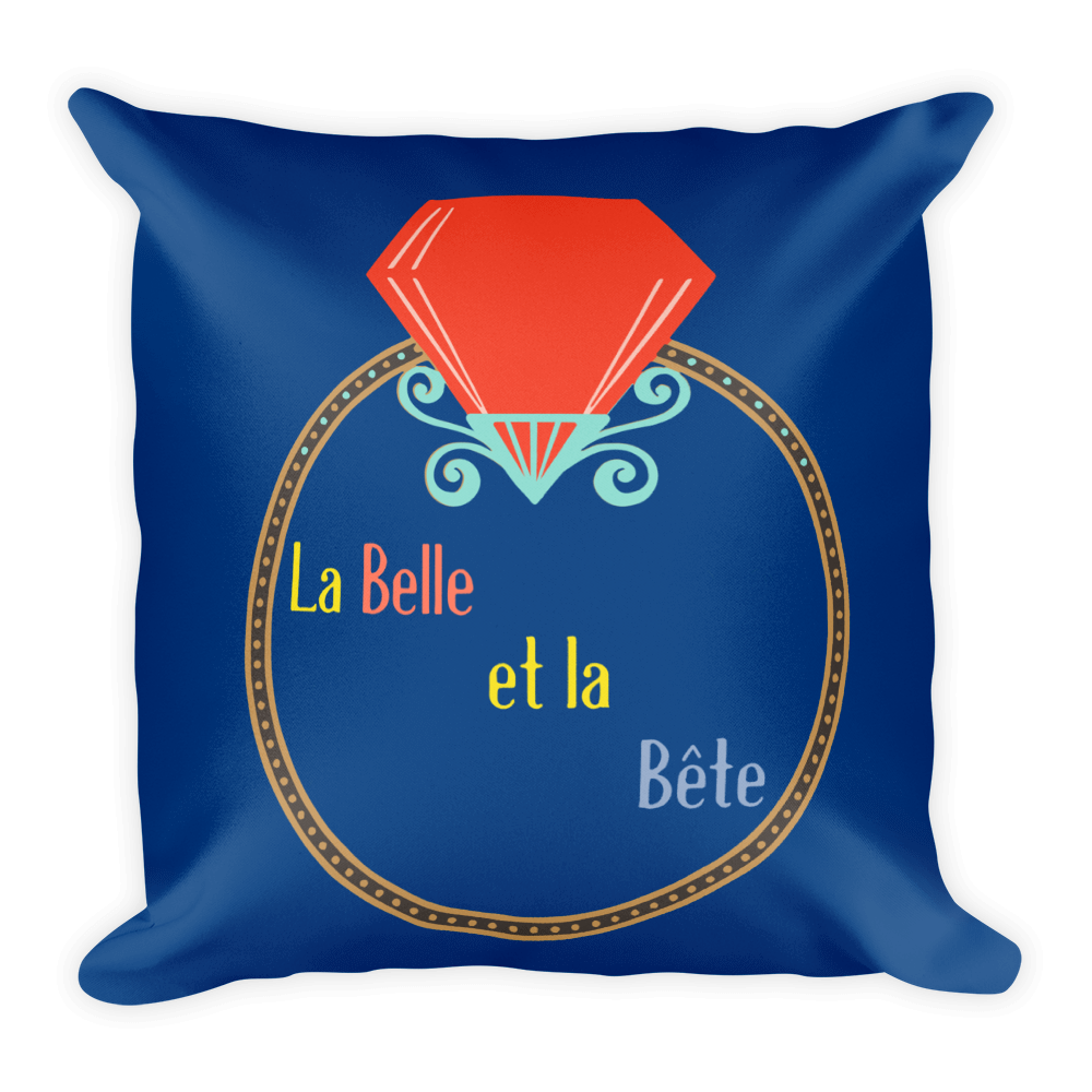 La Belle et la Bete Pillow