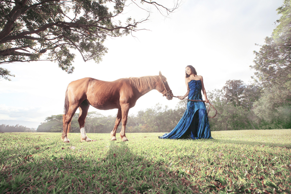 PW MAGAZINE LAYA INDIGO GOWN WITH HORSE.jpg