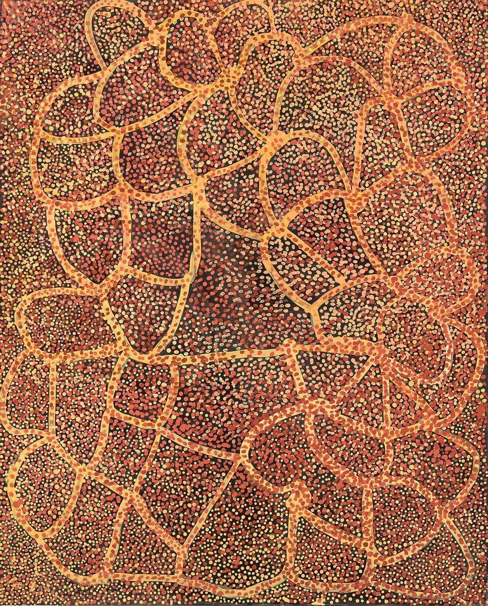 EMILY KAME KNGWARREYE,circa 1910-1996 Wild Yam and Emu Food, 1990
