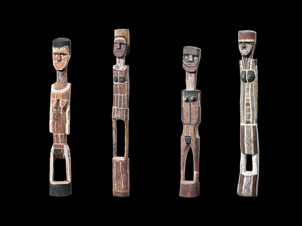 Collection of Tiwi ironwood carvings from the Estate of Marianne Baillieu