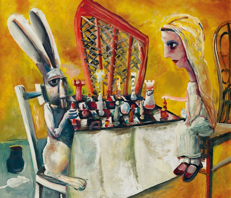 Charles Blackman, Game of Chess 1956. Sold at Sotheby's Australia in November for $1,799,500 IBP