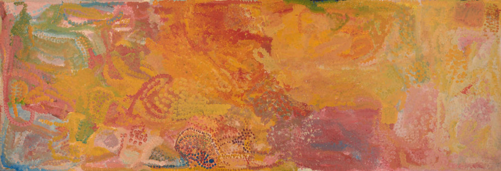 Emily Kngwarreye,  My Country  1993 with Elton John provenance, sold for $414,800 at Bonhams, June 2017