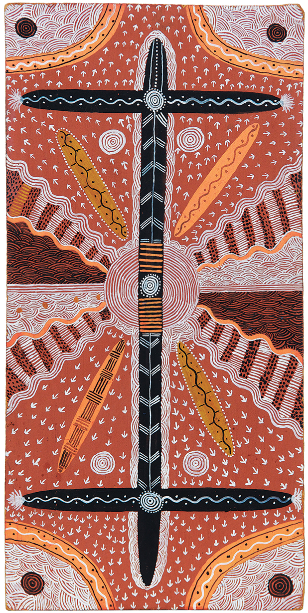 KAAPA TJAMPITJINPA,  Budgerigar Dreaming,  1972, from my 2017 Annual Catalogue exhibition