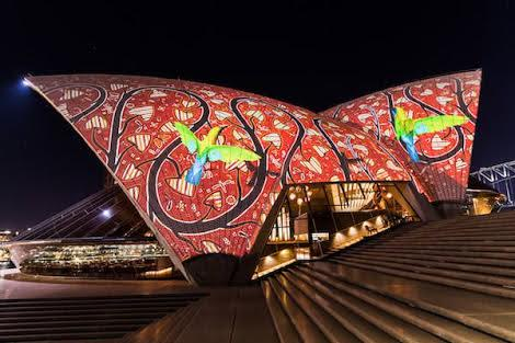 Lin Onus on Sydney Opera House