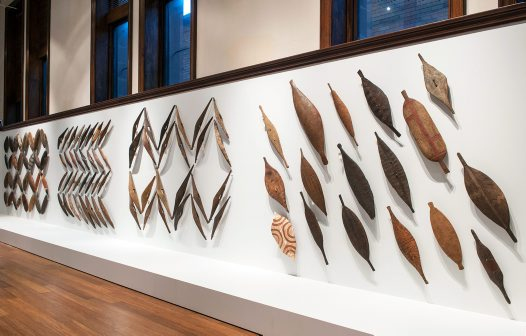 Jonathan Jones' shield installation at the Australian Museum, Sydney