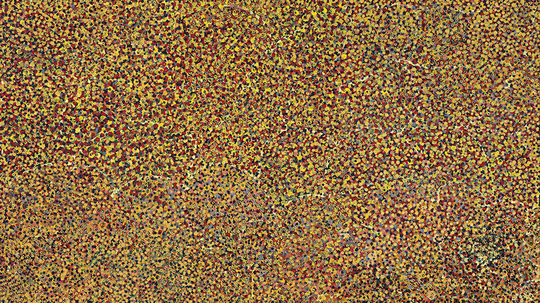 EMILY KAME KNGWARREYE , 1910-1996,  Untitled,  1991, 129 x 228 cm   FOR SALE BY D'LAN DAVIDSON FOR $160,000 AUD
