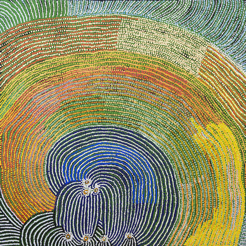 TOMMY MITCHELL , 1943-2013,  Walu,  2009, 152 x 152 cm  SOLD BY D'LAN DAVIDSON FOR $18,000 AUD