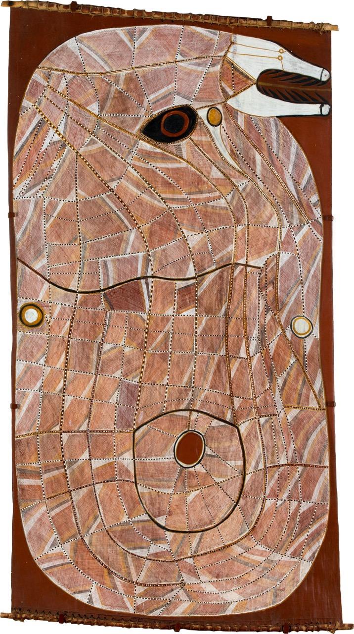 JOHN MAWURNDJUL , born 1952  Ngalyod,  1999, 163 x 88 cm