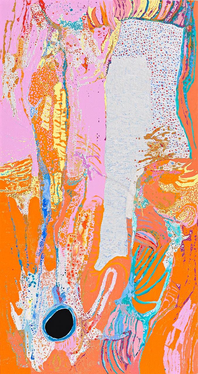 DANIEL WALBIDI , born 1983  Winpa , 2018, 180 x 95 cm