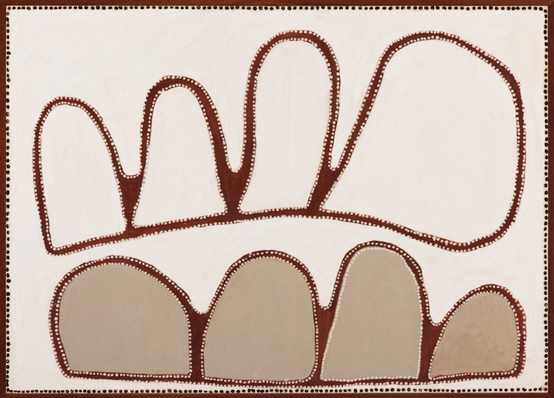 ROVER THOMAS , circa 1926-1998,  Kukatja, Wangkatjanka, Woolanguwa , 1989, 100 x 140cm,  SOLD BY NIAGARA GALLERIES