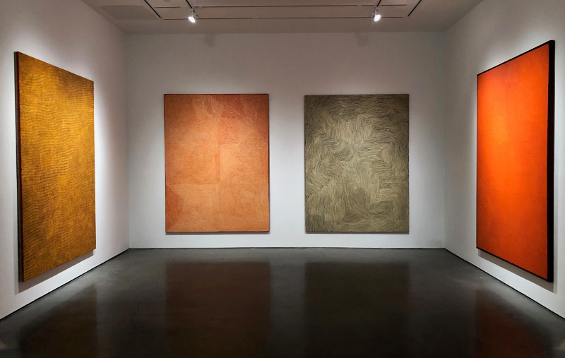 Installation shot of the private exhibition  Twenty Aboriginal Paintings , 16-19 January 2019, New York