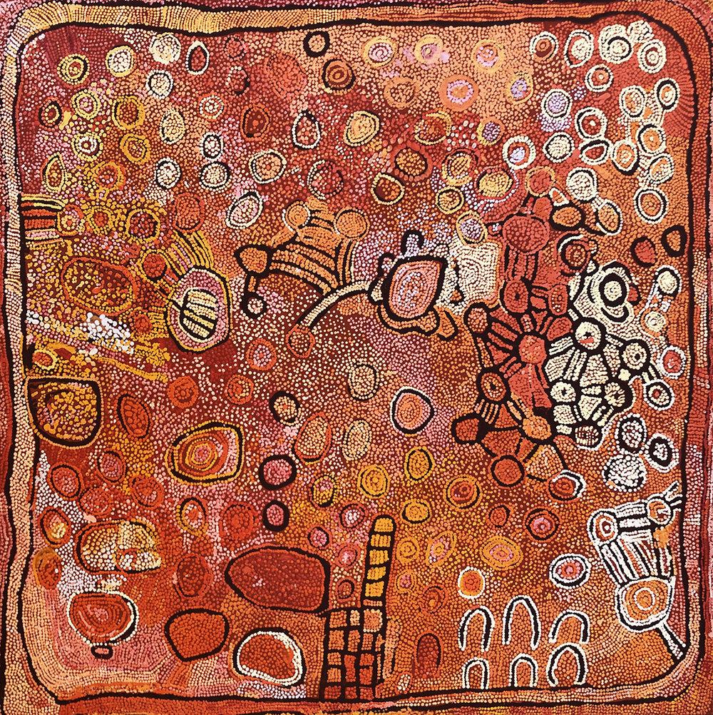 NAATA NUNGURRAYI, born 1932,  Marrapinti , 2004