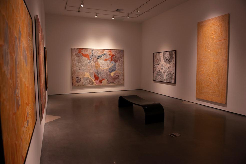 Installation shot of the private exhibition  Twenty Aboriginal Paintings , January 2019, New York