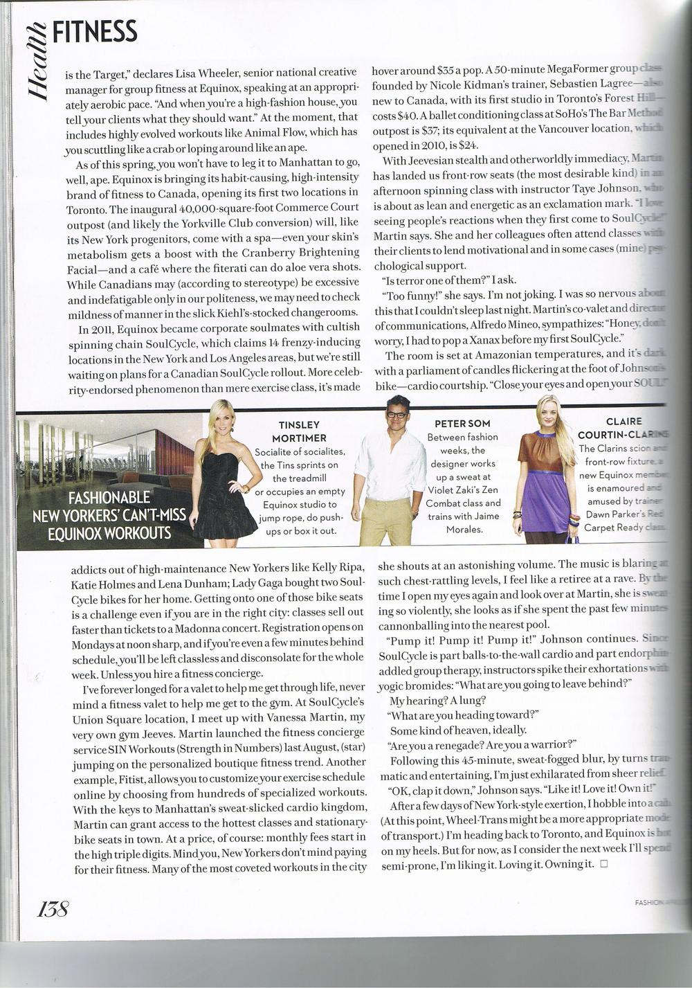 Studio Lagree in Fashion Magazine