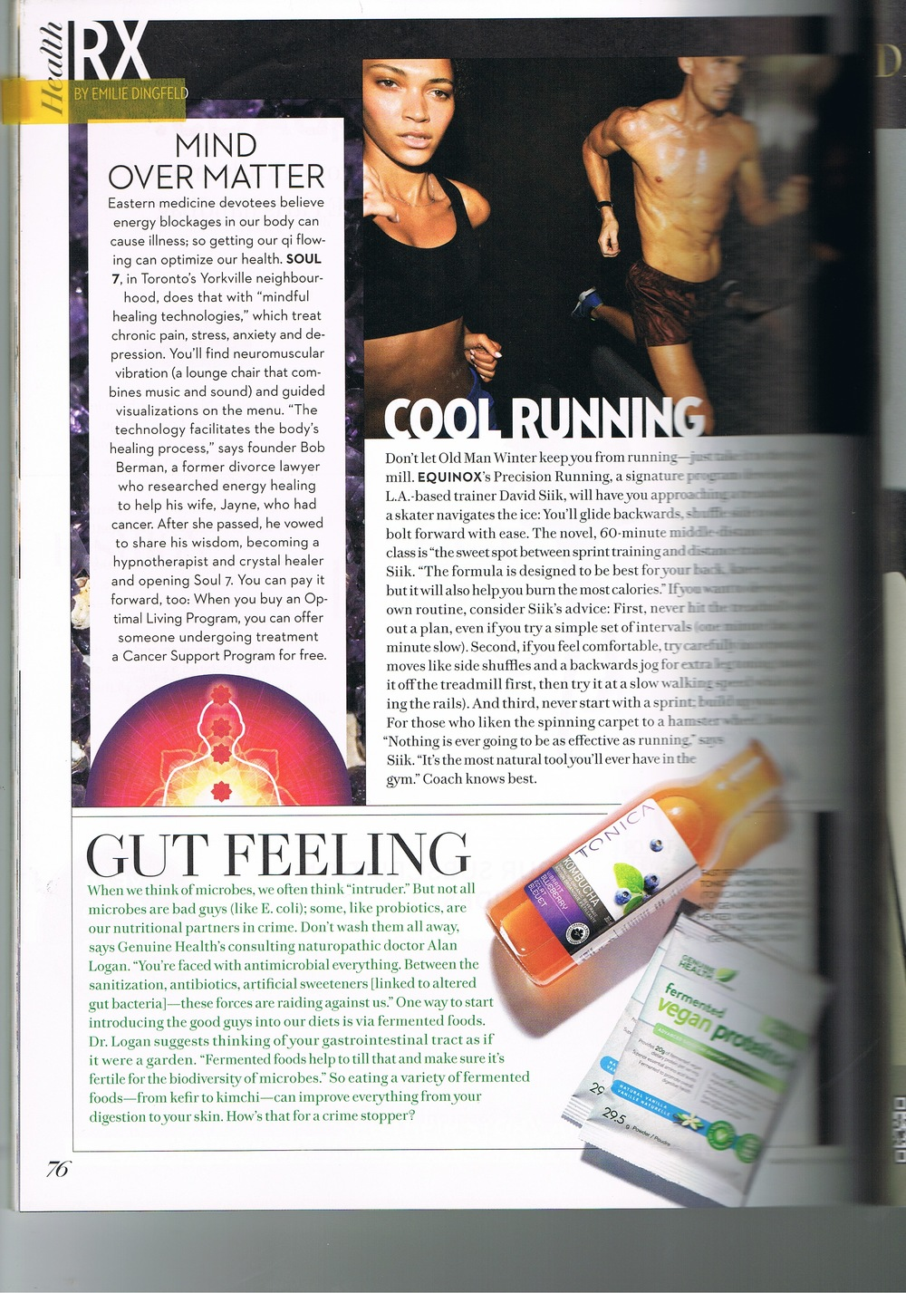 Soul 7 feature in Fashion magazine, talking about their state of the art healing centre that uses guided audiovisual therapy, neuromuscular vibration therapy, crystal healing therapy and pulsed electro magnetic field therapy, PEMF.