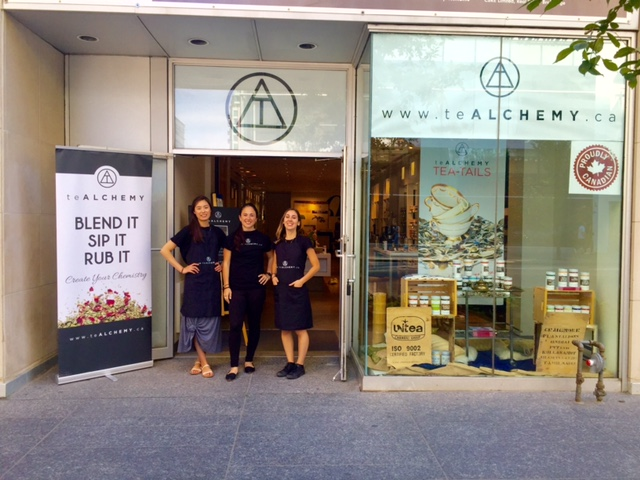 teALCHEMY pop-up at 93 Bloor Street West